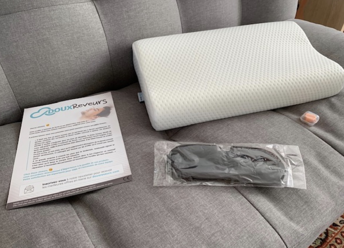 Le pack pour cet oreiller à mémoire de forme
